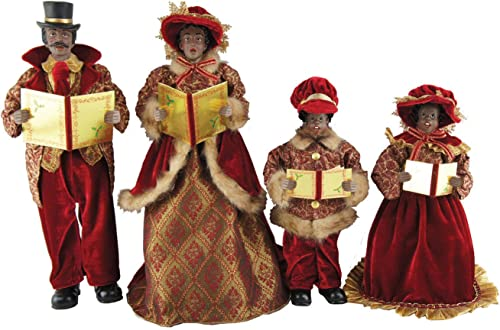 Santa s Workshop 4250 African American Victorian Carolers, Set of 4, 15 -18 , Multicolored