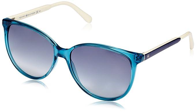 Tommy Hilfiger Damen Sonnenbrille TH 1480/O/S 9O Pjp, Blau (Blu/Grey), 51