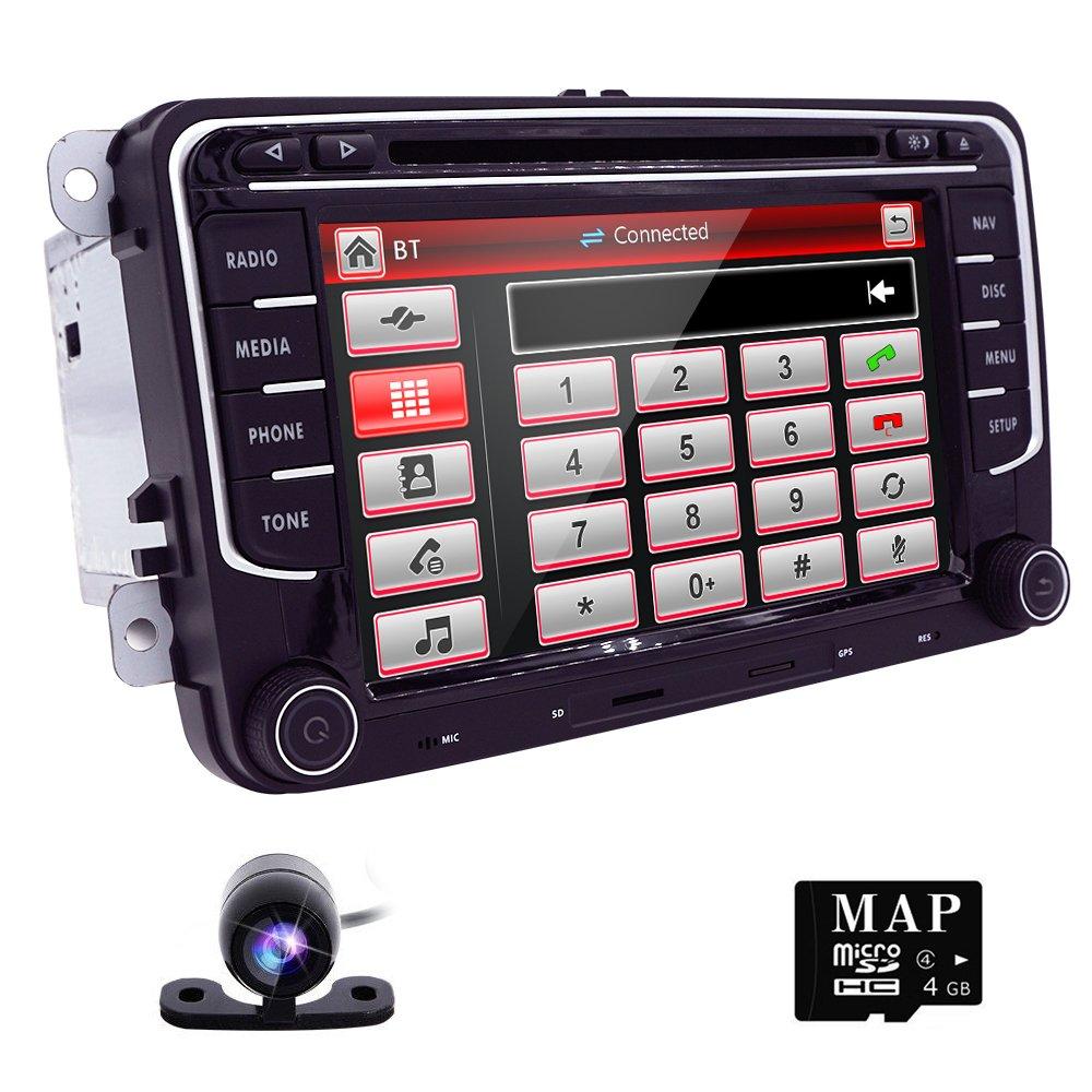hizpo WinCE 6.0 doble DIN HD de 7 (pantalla táctil Headunit para VW Series/Seat/Skoda Serie en Dash coche estéreo de navegación GPS reproductor de DVD ...