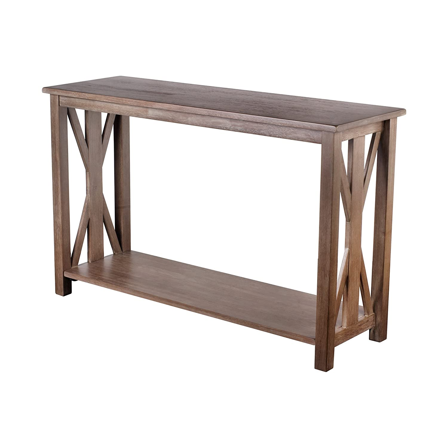 Amazon sofa table solid wood rustic farmhouse style console amazon sofa table solid wood rustic farmhouse style console table east end collection weathered gray living room furniture kitchen dining geotapseo Gallery