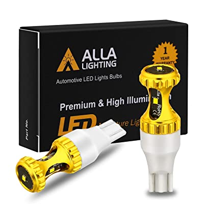 Alla Lighting 3000lm ZES 912 921 LED Reverse Lights Bulbs Xtreme Super Bright 12V SMD T10 T15 906 W16W LED Back-Up Light, 6000K Xenon White: Automotive