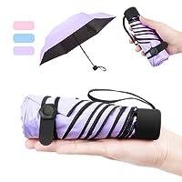 NASUM Mini Ombrello Ultraleggero Ultra Protective [99% UV Resistenza & 100% Impermeabile] - Doppia-Uso Ombrello da Sole/Pioggia,Portatile Compatto Ombrello Pieghevole Ombrello da ViaggioRegalo Perfet