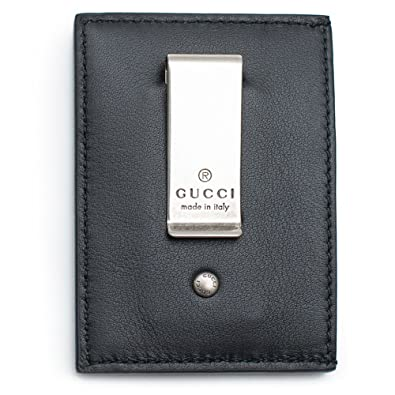 11e3445f51b Amazon.com  Gucci XL Embossed Black Wallet Money Clip Leather Mens Gift  Xmas Italy New Box  Shoes