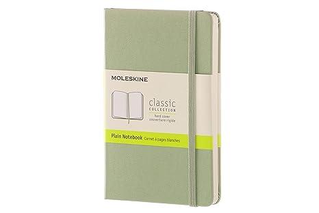 Moleskine QP012K12 - Cuaderno liso, pocket 9 x 14, color verde