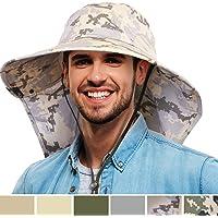 Tirrinia - Sombrero de Sol para Hombre con Cierre de Cuello para Pesca, Safari, para Actividades al Aire última intervensión, Senderismo, Camping, jardinería, césped y Campo de Trabajo