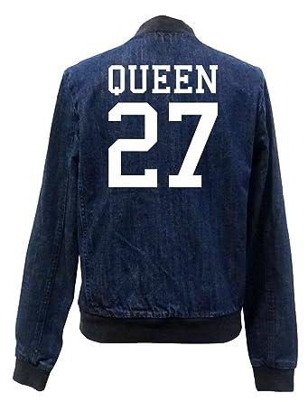 Queen 27 Bomber Chaqueta Girls Jeans Certified Freak: Amazon ...