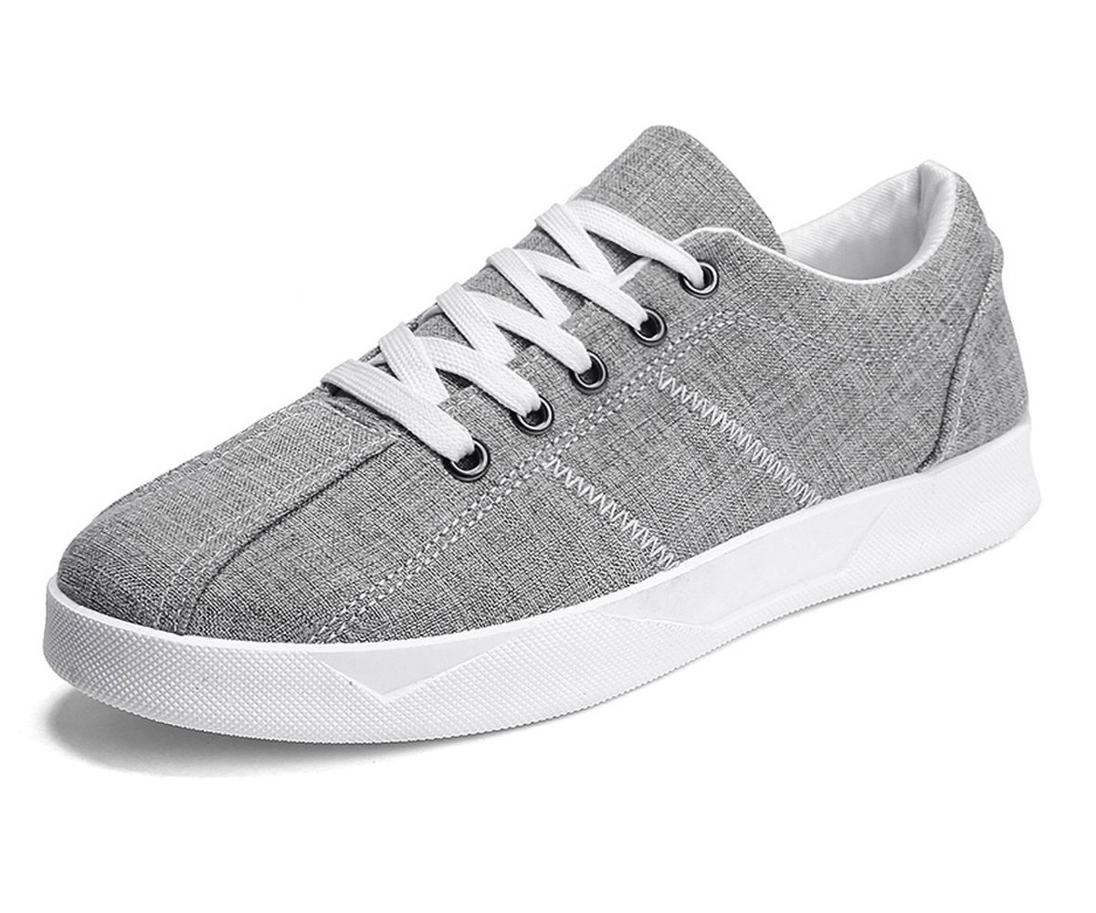 BEFAiR Men's Casual Sneakers Breathable Performance Walking Shoes Grey