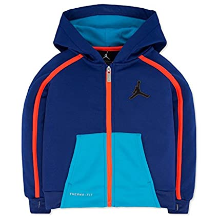 6d61547c837d8f Image Unavailable. Image not available for. Color  Jordan Boys Victory Zip  Colorblocked Hoodie Deep Royal Size M (10-12)