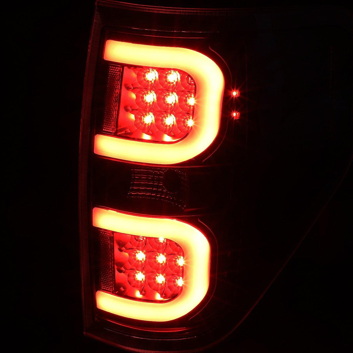 09-14 Ford F150 DNA Motoring TL-F15009-LED-RD3D-BK-SM Dual RED LED C-Bar Tail Light Black//Smoked