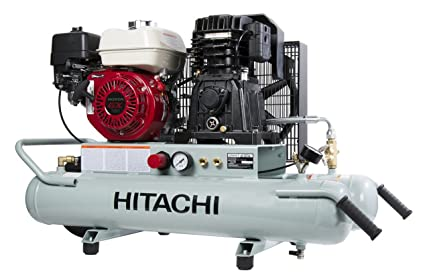 hitachi ec2610e gas powered wheeled portable air compressor with rh amazon ca