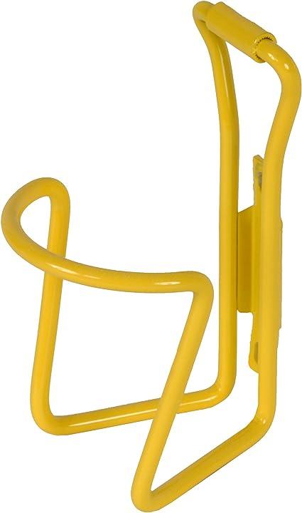 Metallic Yellow Aluminum Alloy Bike Water Bottle Rack Cage