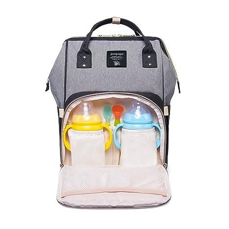 Mochilas para bebés con bolsa de pañales, bolsa de pañales multifuncional para viajes y carritos