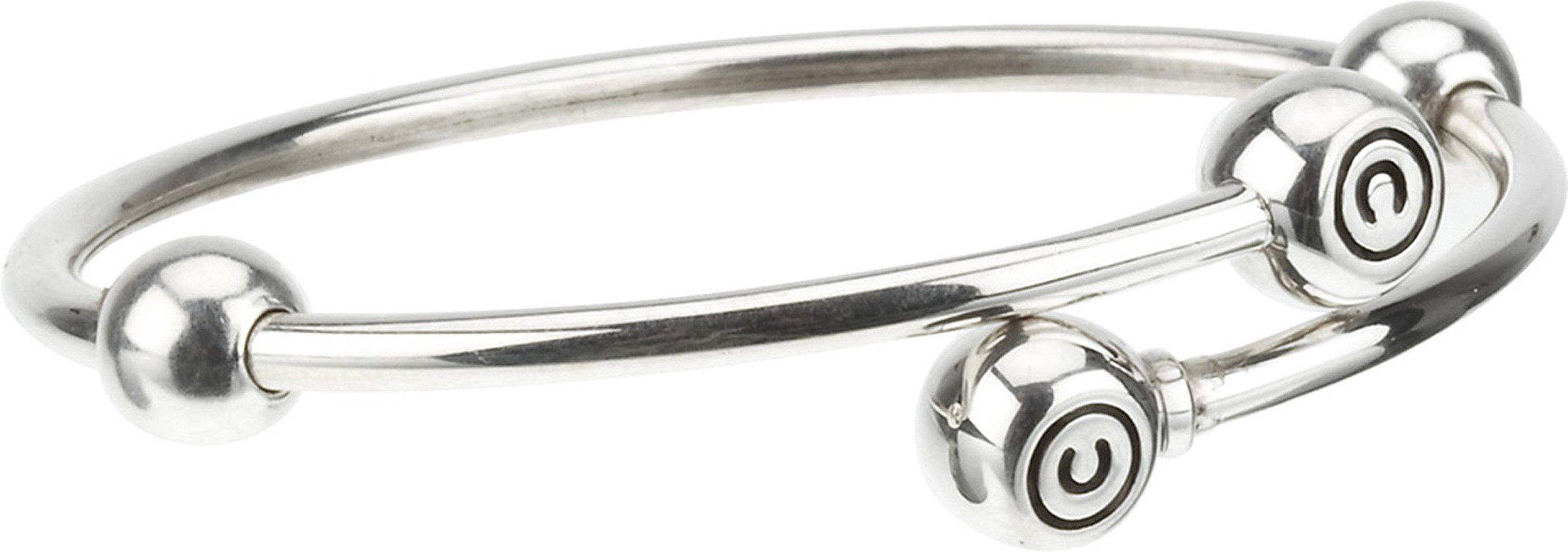 Authentic Chamilia Sterling Silver Medium Flex Bangle 7.9 in. / 20.1 cm 1021-0012