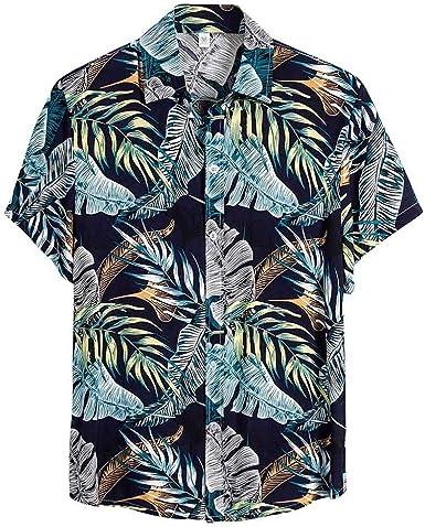 Nueva Camisa Hawaiana de Manga Corta para Hombre Primavera y ...