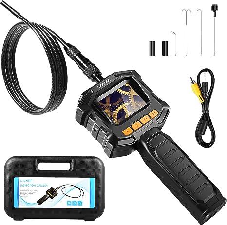 endoscopio a 6 LED Android impermeabile fino a 10 m HugeAuto endoscopio endoscopio USB IP67 8 mm nero endoscopio a serpente da ispezione