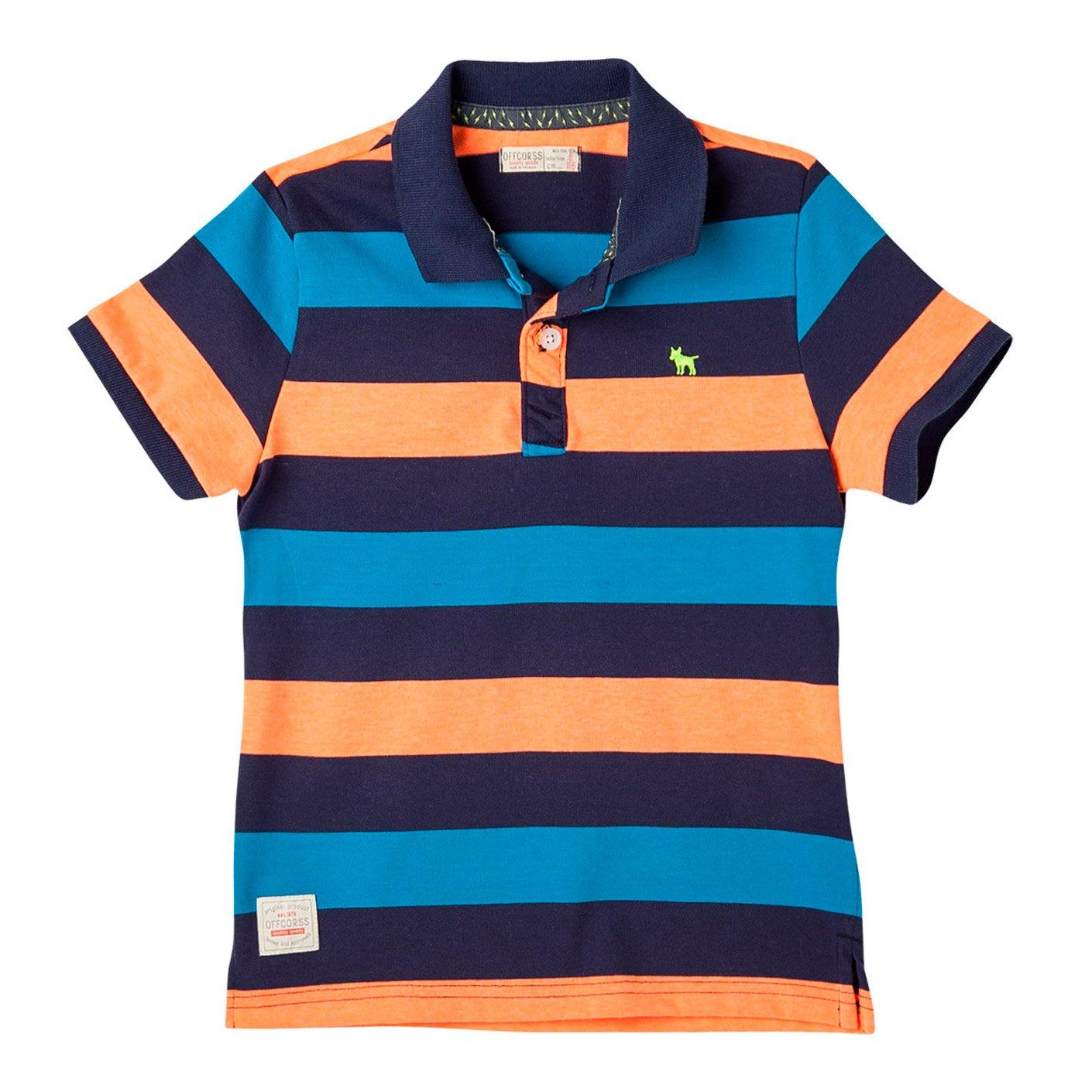 Galleon - OFFCORSS Cotton Polo Shirts For Teen Boys Camisetas Tipo Polo De  Niño Blue 12 a550a6c2f082f