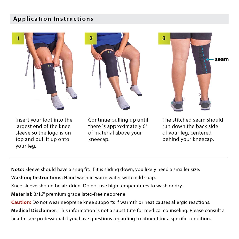 79883da80f Amazon.com: BraceAbility Plus Size XXXXL Compression Knee Sleeve: Health &  Personal Care