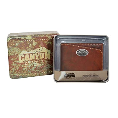 50%OFF Canyon Outback Bi-Fold Brown Wallet, Texas Longhorns