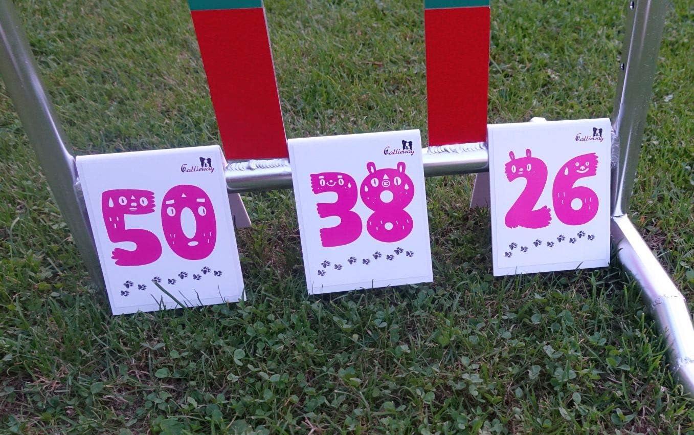 Set//Nummernschilder durchnummeriertes Set Callieway/® Agility Parcoursnummern//Rally Obedience Nummern//Zahlen