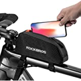 ROCKBROS Top Tube Bike Bag Bicycle Front Frame Bag Top Tube Bag Bike Accessories Pouch Compatible with iPhone 11 Pro Max…