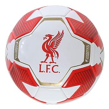 Liverpool FC Balon LFC Rojo & Blanco Tamano 5 LFC Oficial: Amazon ...