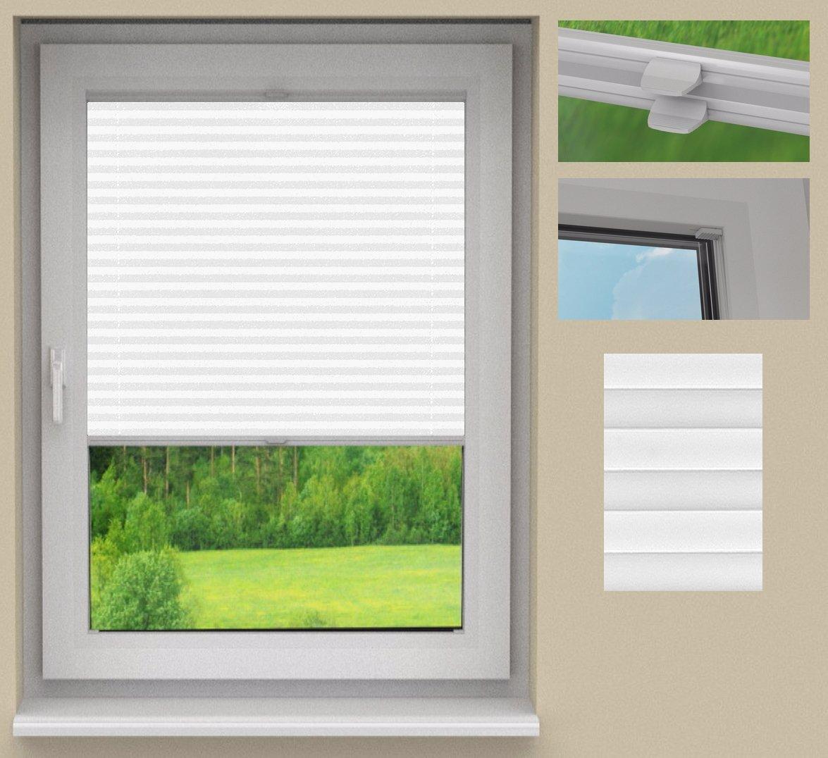 SUNLUX24 Plissee Cosimo auf Maß Maß Maß   Stoff  Weiß(PLB063)   Systemfarbe  Weiß   Montage  Im Glasfalz  Breite 20 bis 50cm x Höhe 200,1 bis 210cm 18196b
