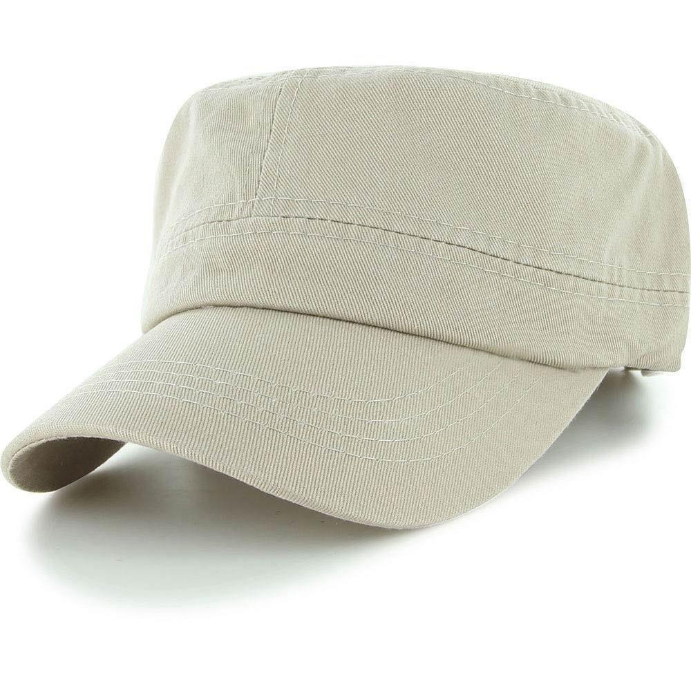 Easy-W Khaki Military Style Caps Hat Unizex Bucket