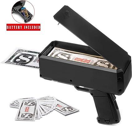 Money Gun Cash Box Money Gun dollar Bill shooter Throwing money 100PC Cach money