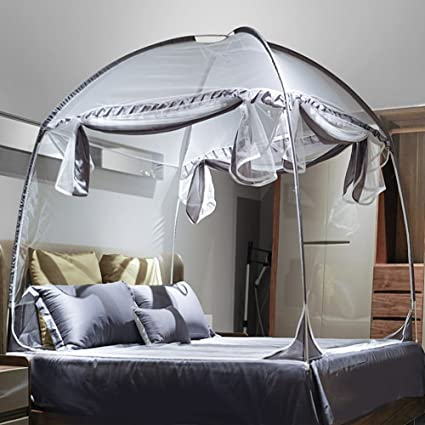 Image Unavailable & Amazon.com: Mengersi Bed Canopy Mosquito Net Tent with Canopy Frame ...