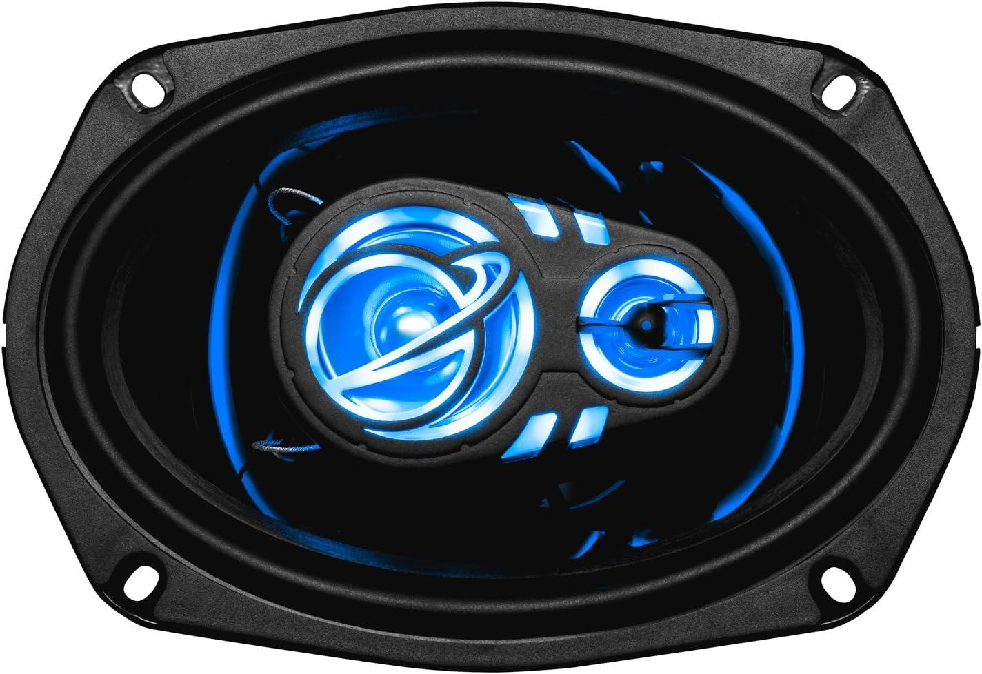 Planet Audio AC693 6 x 9 Inch Car Speakers - 500 Watts of Power Per Pair, 250 Watts Each, Full Range, 3 Way, Sold in Pairs