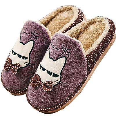 D.S.MOR Boy's Girl's Cartoon Snow Winter Slippers Cute Slippers Warm Slippers
