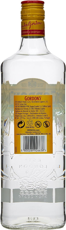 Gordons Cucumber Ginebra - 700 ml: Amazon.es: Alimentación y bebidas