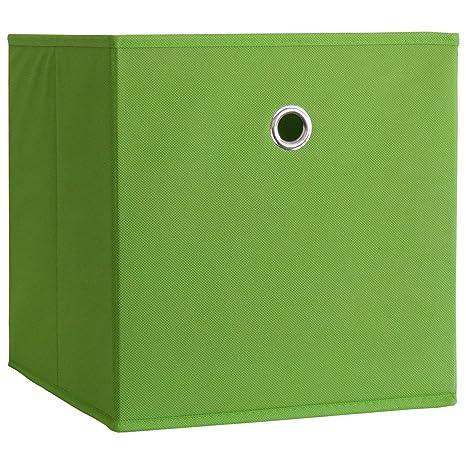 """VCM """"Boxas Plegable/de Almacenamiento/Caja Forrada con Tela, Verde"""