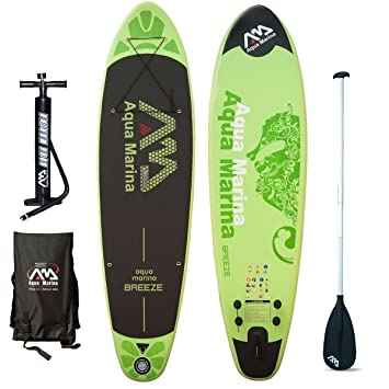 Aqua Marina Breeze Sup Inflatable Stand Up Paddle Surf Tarjeta Modelo 2016
