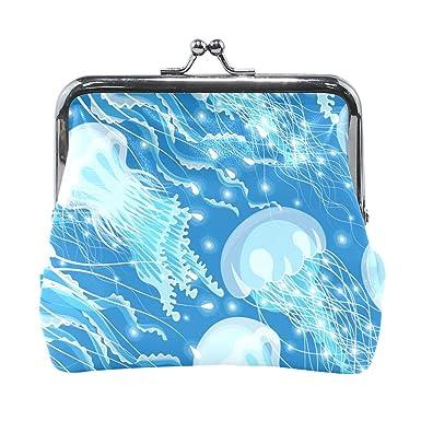 Amazon.com: Ocean Jellyfish - Monedero para mujer, moneda ...