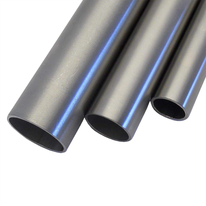 Korn 240 L/änge 500 mm Abmessungen /Ø 33,7mm x 2,0mm V2A Edelstahl Rohr rund Oberfl/äche geschliffen
