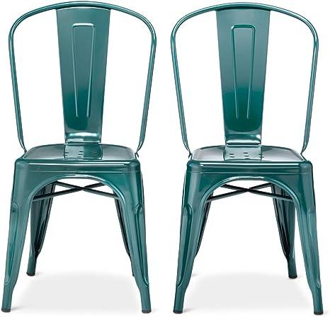 Amazon Com Carlisle High Back Metal Dining Chair Threshold Chairs