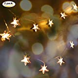 Accmor 2 Pack Fairy String Lights with Amazing star, Indoor/Outdoor LED Decorative Lights for Christmas, Party, Wedding, Halloween, 5.4 Feet 10 LED