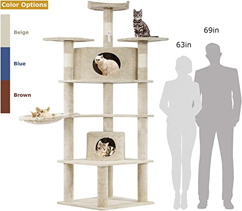 BestPet Cat Tree Kitty Tree Cat Condo Cat House Cat Tower for Large Cats,73