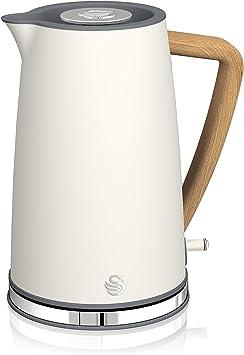 Swan Nordic Hervidor de agua eléctrico ultra rápido, inalámbrico sin cable, diseño moderno, 1...