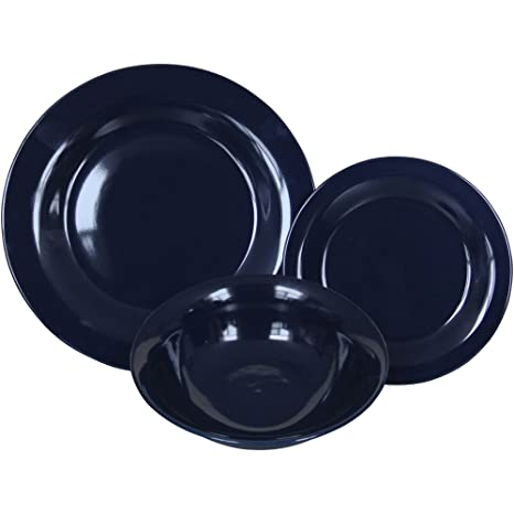 Mainstays 12-Piece Dishwasher and Microwave Safe Stoneware Dinnerware Set in Blue Sapphire  sc 1 st  Amazon.com & Amazon.com | Mainstays 12-Piece Dishwasher and Microwave Safe ...