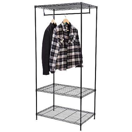 Perchero de 3 estantes para ropa, estante de alambre para ...