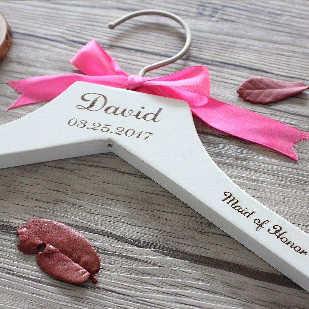 Maid of Honor Hochzeit Kleiderbügel personalisiert Namen und Datum ...