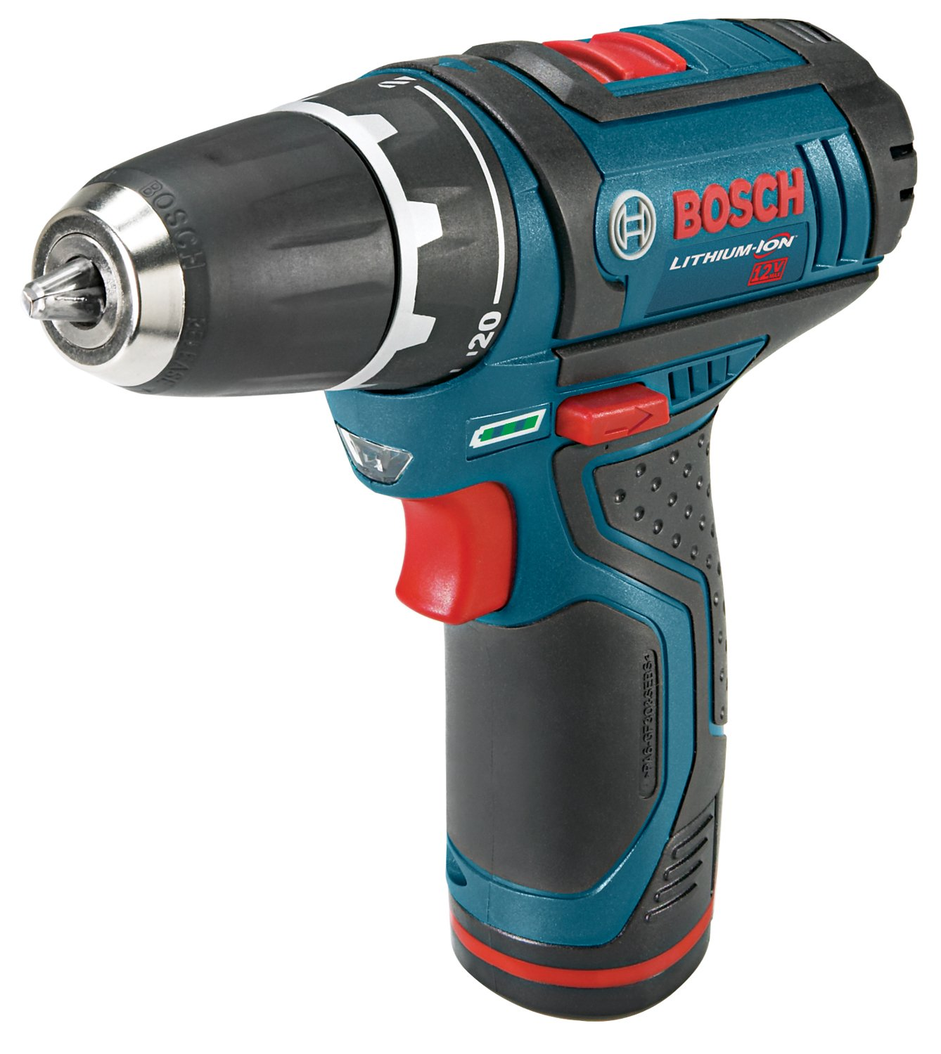 Bosch PS31-2A 12-Volt Max Lithium-Ion 3/8-Inch 2-Speed Drill/Driver Kit with 2 Batteries, Charger and Case by Bosch