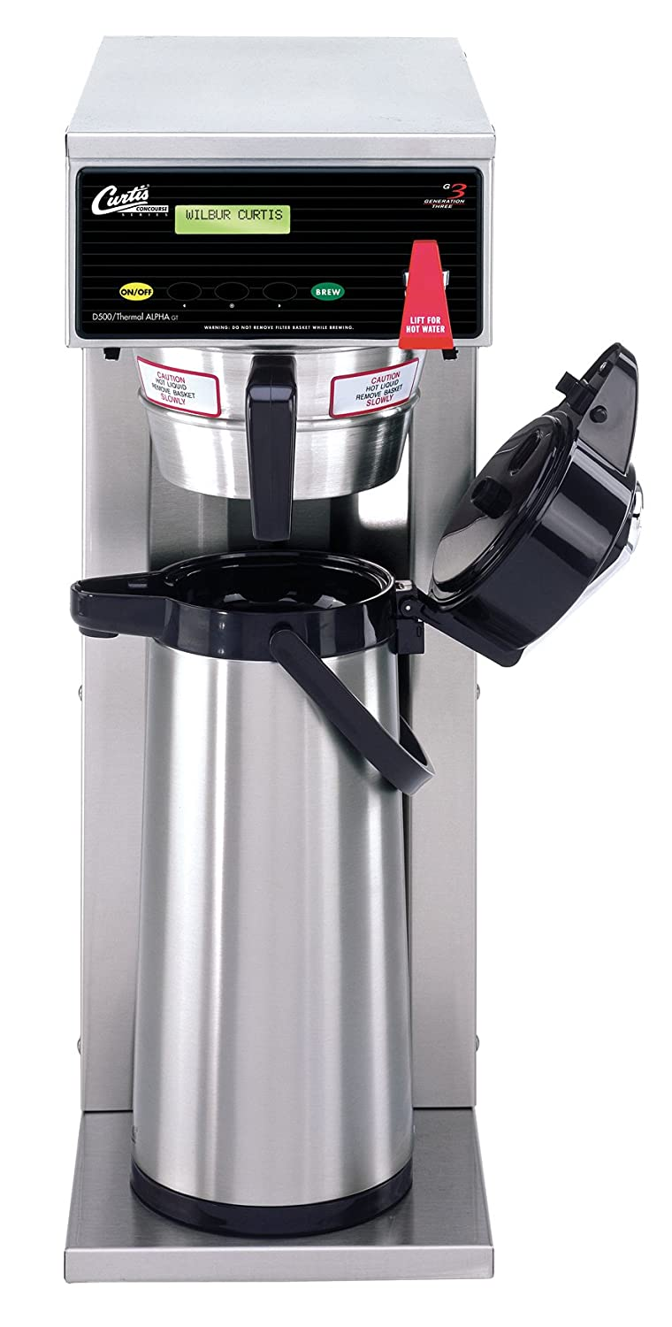 Wilbur Curtis G3 Airpot Brewer 2.2L To 2.5L Single/Standard Airpot Coffee Brewer - Commercial Airpot Coffee Brewer- D500GT12A000 (Each)