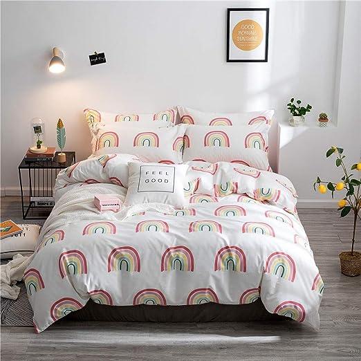 Amazon.com: MKXI Kids Duvet Covers Rainbow Floral Fancy Girls