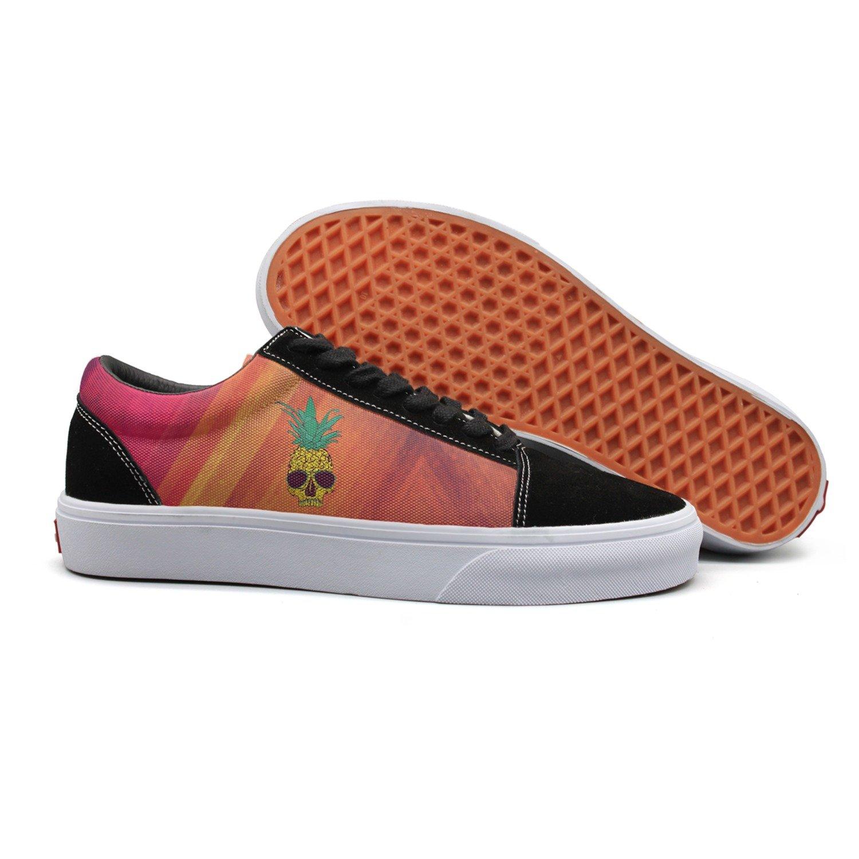 SKULL-cool pineapple skull with sunglass women comfortable sneakers for women