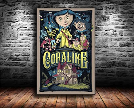 Amazon Com Artzhu Moletom Coraline Wall Art Home Wall Decorations For Bedroom Living Room Oil Paintings Canvas Prints 24x36 24x36inch Unframed Posters Prints