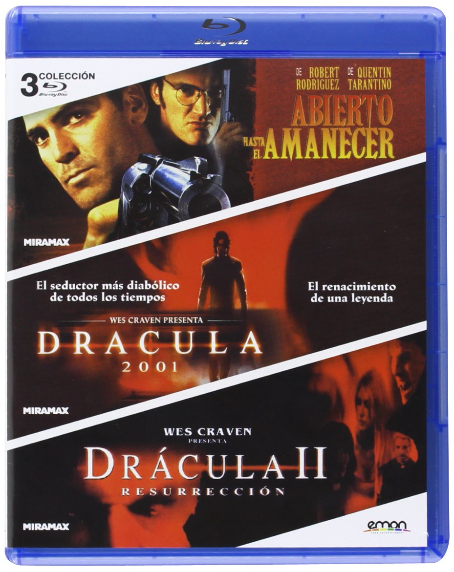 Pack: Abierto Hasta El Amanecer + Drácula 2001 + Drácula: Resurrección Blu-ray: Amazon.es: George Clooney, Jonny Lee Miller, Jennifer Kroll, Robert Rodriguez, Patrick Lussier, George Clooney, Jonny Lee Miller: Cine y Series