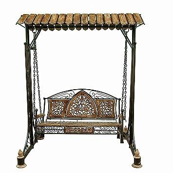 Aarsun Woods Wooden Swings/Jhoola for Home & Garden Floor-Standing